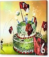 A Golfers Birthday Cake Canvas Print