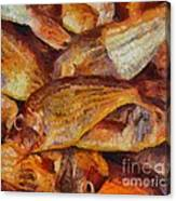 A Good Catch Of Fish Canvas Print