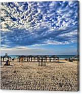 a good morning from Jerusalem beach  Canvas Print