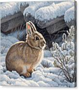 A Good Place - Bunny Canvas Print