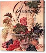 A Gourmet Cover Of Grapes Canvas Print