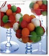 A Gourmet Cover Of Melon Balls Canvas Print