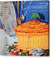 A Gourmet Cover Of Pate En Croute Canvas Print