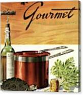 A Gourmet Cover Of Turtle Soup Ingredients Canvas Print