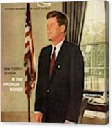 A Gq Cover Of President John F. Kennedy Canvas Print