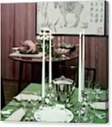 A Green Table Canvas Print