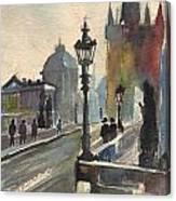 A Grey Evening Canvas Print