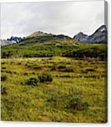 A Group Of Hikers Walk Canvas Print