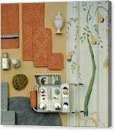 A Group Of Household Objects Canvas Print