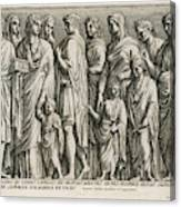 A Group Of Roman Citizens Canvas Print