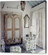 A Guest Room At Hickory Hill Canvas Print