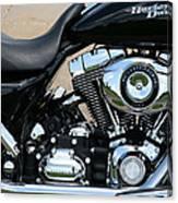 A Harley In Arlington Canvas Print