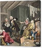 A Harlots Progress, Plate V Canvas Print