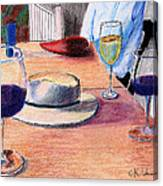 A Hat And Wine Canvas Print