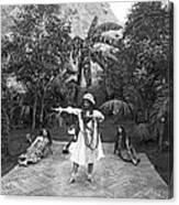 A Hawaiian Woman Dancing Canvas Print