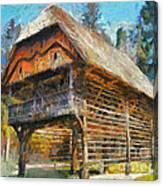 A Hayrack  Canvas Print