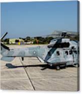 A Hellenic Air Force Super Puma Search Canvas Print