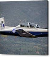 A Hellenic Air Force T-6 Trainer Flying Canvas Print