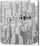 You See Where Sixth Avenue Meets Broadway Canvas Print