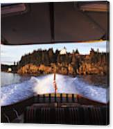 A Hinckley Picnic Boat Travels Canvas Print