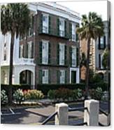 A Historic Home On The Battery - Charleston Canvas Print