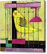 A House And Garden Cover Of A Bird In A Cage Canvas Print