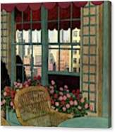 A House And Garden Cover Of A Wicker Chair Canvas Print