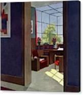 A House And Garden Cover Of An Interior Canvas Print
