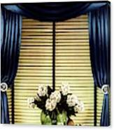 A House And Garden Cover Of Flowers By A Window Canvas Print