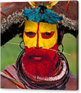 A Huli Man Canvas Print