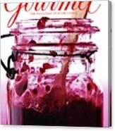 A Jar Of Skillet Blackberry Jam Canvas Print