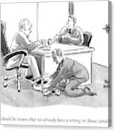 A Job Interviewer Tells An Interviewee Canvas Print