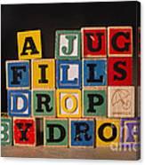 A Jug Fills Drop By Drop Canvas Print