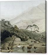 A Kaffir Village, C.1801 Wc & Graphite On Paper Canvas Print