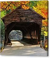 A Kancamagus Gem - Albany Covered Bridge Nh Canvas Print