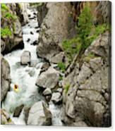 A Kayaker Descending Vallecito Creek Canvas Print