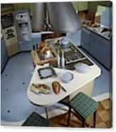 A Kitchen Designed By Ralph & Jane Bonnell Canvas Print