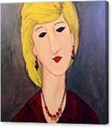 A Lady With Jewelry Canvas Print