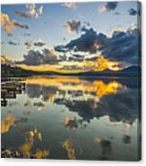 A Lake Pend Oreille Sunset  -  120601a-040 Canvas Print