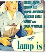 A Lamp Is Heavy, Aka The Feminine Canvas Print