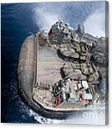 A Landing Craft Air Cushion Enters Teh Canvas Print