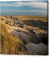 A Landscape Image Of Badlands National Canvas Print