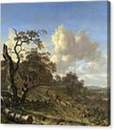 A Landscape With A Dead Tree Canvas Print