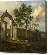 A Landscape With A Ruined Archway Canvas Print