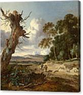A Landscape With Two Dead Trees Canvas Print