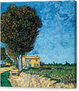 A Lane Near Arles Canvas Print