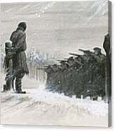 A Last Minute Reprieve Saved Fyodor Dostoievski From The Firing Squad Canvas Print