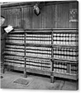 A Lawyer In His Library Canvas Print