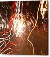 A Light Dance In Old Town Canvas Print
