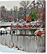 A Light Dusting Of Snow Canvas Print